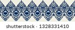 ikat geometric folklore... | Shutterstock .eps vector #1328331410