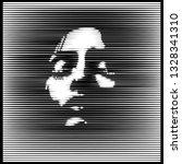 parallel line art face. woman...   Shutterstock .eps vector #1328341310