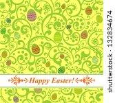 easter card. easter  background ... | Shutterstock . vector #132834674