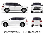 realistic suv car. front view ... | Shutterstock .eps vector #1328350256