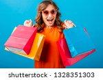 portrait of excited attractive... | Shutterstock . vector #1328351303
