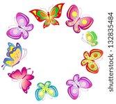 Stock vector butterflies design 132835484