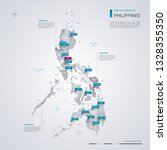 philippines vector map with... | Shutterstock .eps vector #1328355350