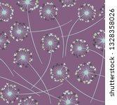 cute dandelion blowing vector... | Shutterstock .eps vector #1328358026