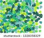 teal green tropical jungle... | Shutterstock .eps vector #1328358329