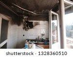 kitchen after extinguished...   Shutterstock . vector #1328360510