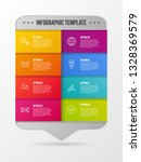 company milestone with business ... | Shutterstock .eps vector #1328369579