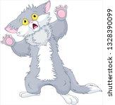 illustration of scared kitten | Shutterstock .eps vector #1328390099