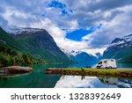 family vacation travel rv ... | Shutterstock . vector #1328392649