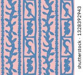 blue and pink primitive african ... | Shutterstock .eps vector #1328392943