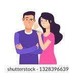 gossiping. woman speaking rumor ... | Shutterstock .eps vector #1328396639