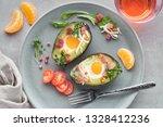 keto diet dish  baked avocado... | Shutterstock . vector #1328412236