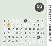 arrow icon set | Shutterstock .eps vector #132841523