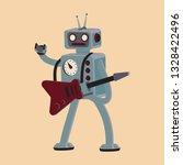 cartoon robot rocker playing... | Shutterstock .eps vector #1328422496