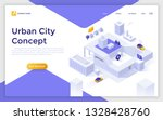 landing page with smart city... | Shutterstock .eps vector #1328428760