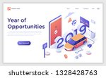 landing page with 2019 number ... | Shutterstock .eps vector #1328428763