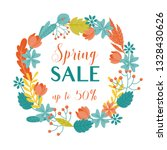 colorful spring sale banner... | Shutterstock .eps vector #1328430626