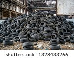 Big Pile Of Automobile Tires On ...