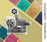 cinema projector  film...   Shutterstock . vector #1328434523