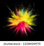 multi colored powder explosion...   Shutterstock . vector #1328434970