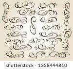 calligraphic elegant elements... | Shutterstock .eps vector #1328444810