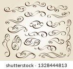 calligraphic elegant elements... | Shutterstock .eps vector #1328444813