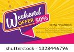 weekend offer sale banner... | Shutterstock .eps vector #1328446796