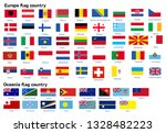 europe and oceania flag country | Shutterstock .eps vector #1328482223