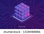 isometric database icon ...   Shutterstock .eps vector #1328488886