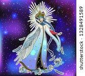 beautiful princess swan....   Shutterstock .eps vector #1328491589