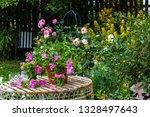 beautiful  home garden with... | Shutterstock . vector #1328497643