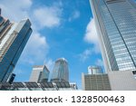 low angle view of skyscraper... | Shutterstock . vector #1328500463
