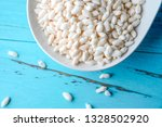 a bowl of white  fragrant... | Shutterstock . vector #1328502920