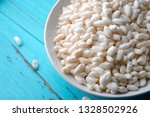 a bowl of white  fragrant... | Shutterstock . vector #1328502926