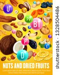 healthy nuts and dried fruits ... | Shutterstock .eps vector #1328504486