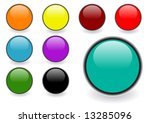 set of editable glossy web... | Shutterstock .eps vector #13285096