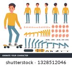 man wear yellow shirt character ... | Shutterstock .eps vector #1328512046