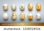 happy easter decoration set...   Shutterstock .eps vector #1328518526