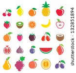 fruits set | Shutterstock .eps vector #132851894