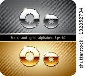 3d joyful set of chrome metal... | Shutterstock .eps vector #132852734