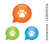 paw print marker icon   Shutterstock .eps vector #1328545316