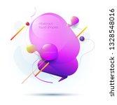 minimal abstract 3d shape fluid ... | Shutterstock .eps vector #1328548016