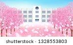 cherry blossom spring flower... | Shutterstock . vector #1328553803