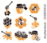 honey set. vector | Shutterstock .eps vector #132855413