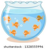 golden fish in the tank... | Shutterstock .eps vector #1328555996