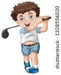A Chubby Male Golfer...