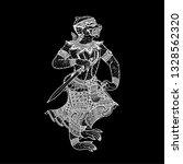 thai monkey  vector  line thai... | Shutterstock .eps vector #1328562320
