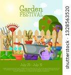 garden festival banner  poster... | Shutterstock .eps vector #1328563520