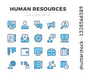 human resources vector line... | Shutterstock .eps vector #1328566589