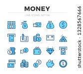 money vector line icons set.... | Shutterstock .eps vector #1328567666